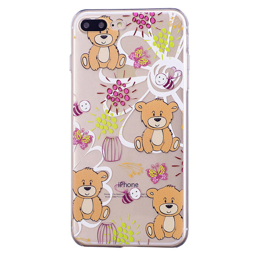 iPhone 8 / 7 Case, Cute Cartoon Design Transparent Soft Cover