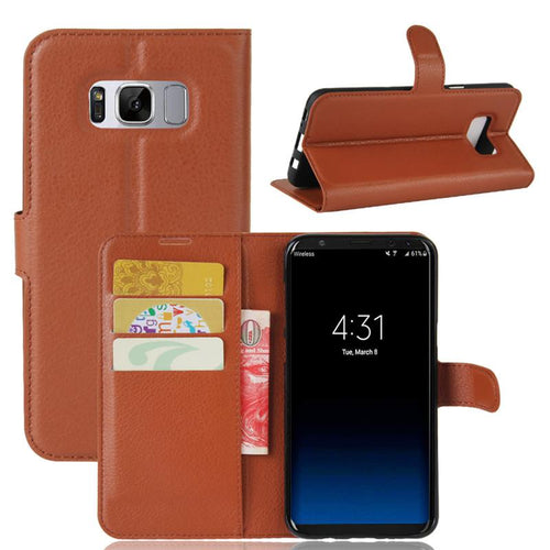 Samsung Galaxy S8 Plus Case Wallet Flip Cover Leather - Trijen