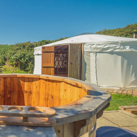 Yurt (Sleeps 2 - Double Pull Bed) - Two People - Main Weekend