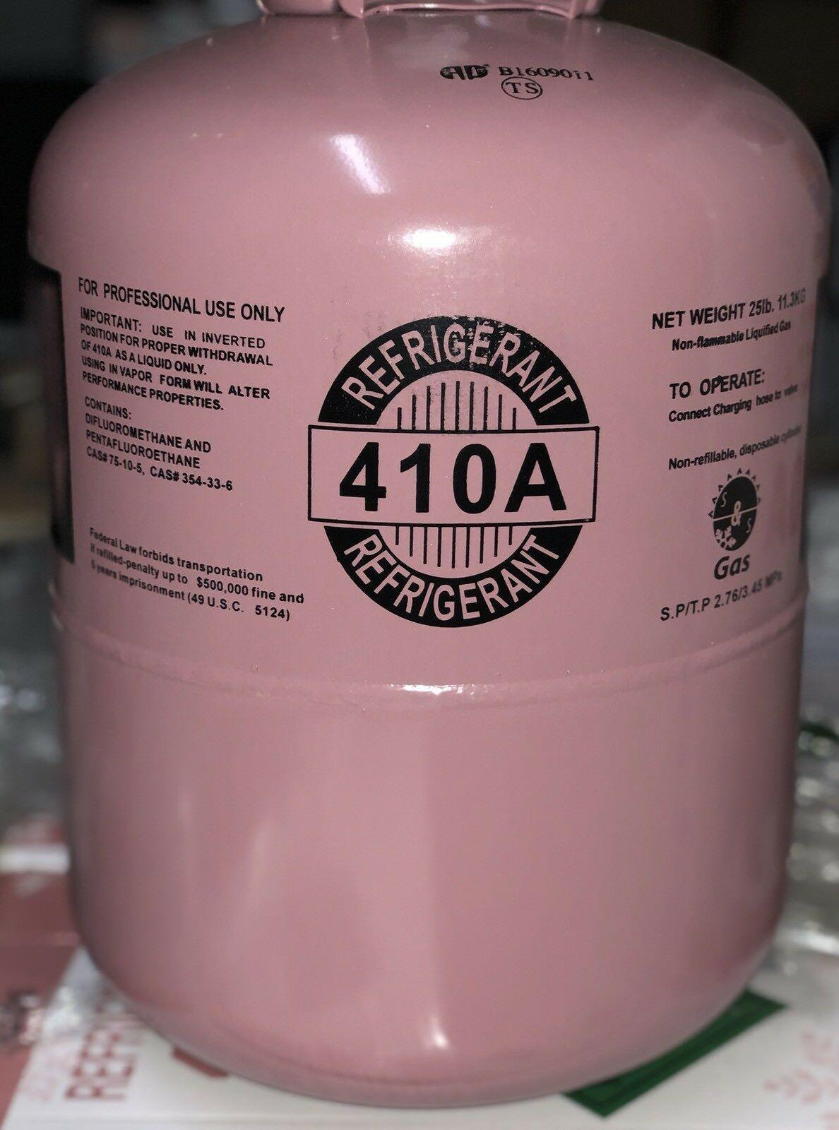 R410a, R-410A Refrigerant 25lb tank  New Factory Sealed **Lowest Price on  Ebay**