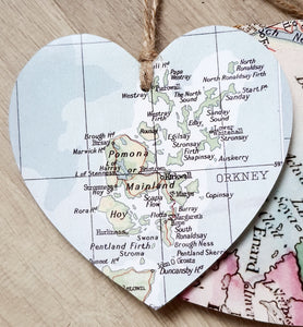 Hearts with Map - Orkney