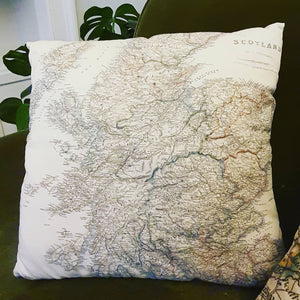 Cushion - Scotland Map