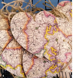 Hearts with Map - Peebles