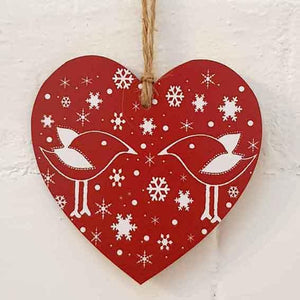 Christmas Heart Red Skandi design
