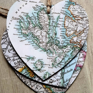 Hearts with Map - Isle of Skye