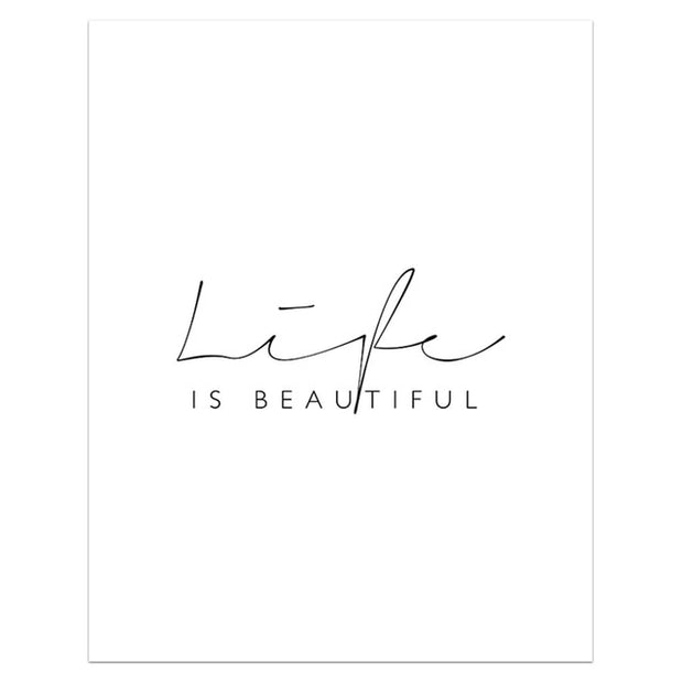 "Affiche ""Life is beautiful"""