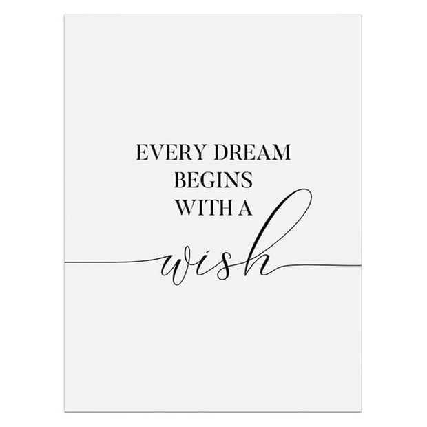 "Tableau ""Every Dream Begins With a wish"""