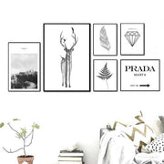 "Affiches Scandinaves - ""Chic & Nature"" - Noir & blanc"