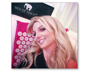 britney spears on bed of nails acupressure mat and pillow products benefits include pain management stress relief mindfulness healthy modern day acupressure session at home