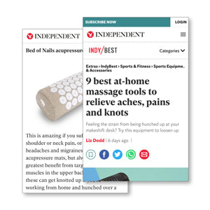 The Independent feature Bed of Nails Best Mothers Day Gifts acupressure mat