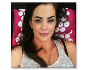Jillian Murray on bed of nails acupressure mat and pillow products benefits include pain management stress relief mindfulness healthy modern day acupressure session at home