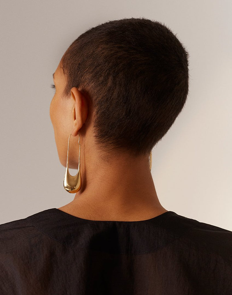 IONIC<br>Earring (one piece), 18k gold - made to order