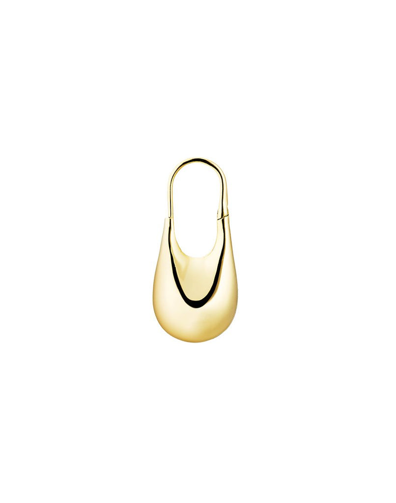 MINI DORIC <br>Earring (one piece), 18k gold