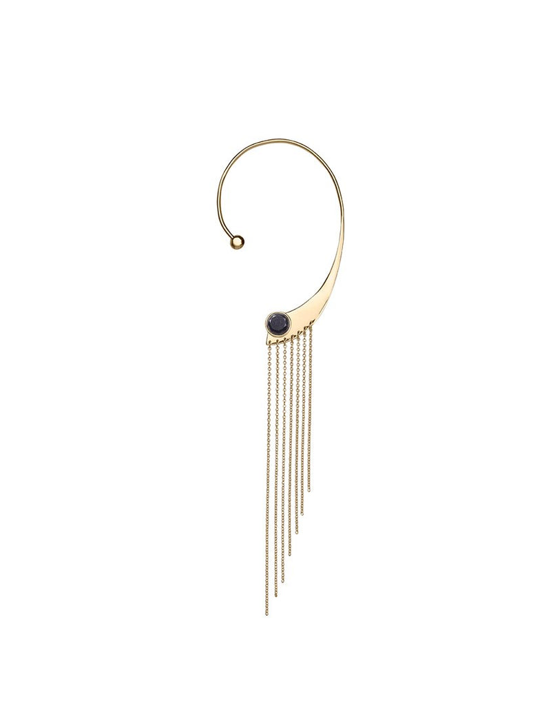 OUR LIPS<br>Earring, left (one piece), 18k gold