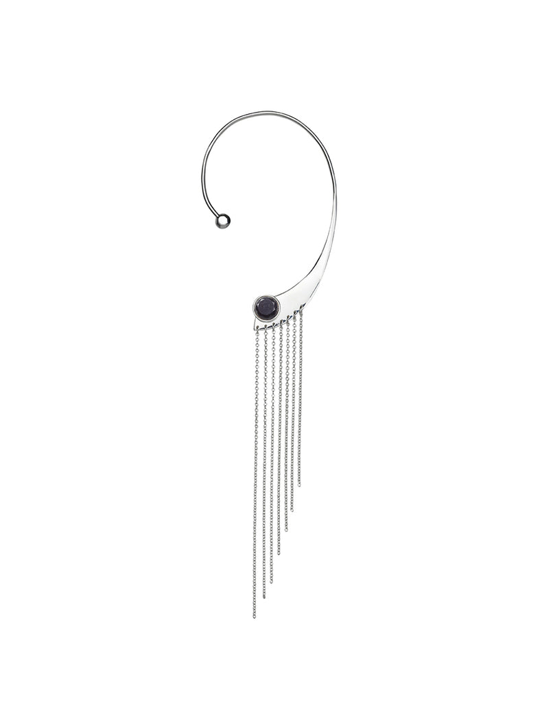 OUR LIPS<br>Earring, right (one piece), sterling silver