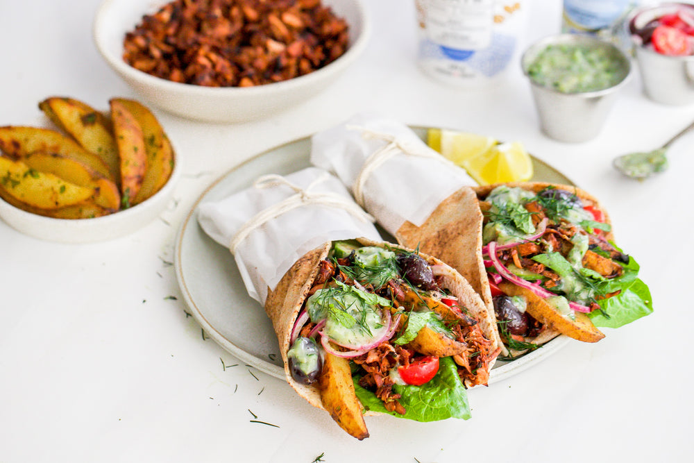 Vegan Gyros with Jackfruit