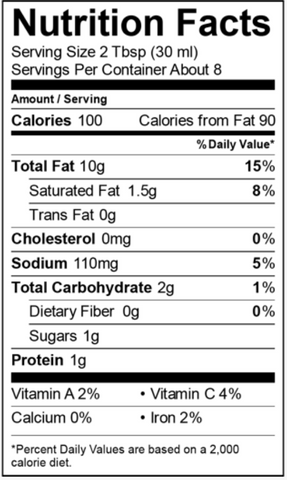 Mother Raw Product Nutrition Information