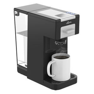 Litchi Single Serve Coffee Maker, Black