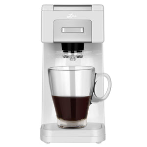 Litchi Single Serve Coffee Maker, White - LitchiLive