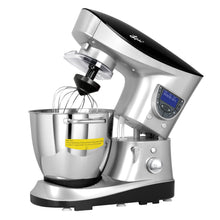 Load image into Gallery viewer, 7.4 Quart Professional Stand Mixer by Litchi, Silver