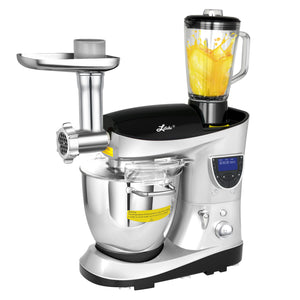 7.4 Quart Professional Stand Mixer by Litchi, Silver - LitchiLive