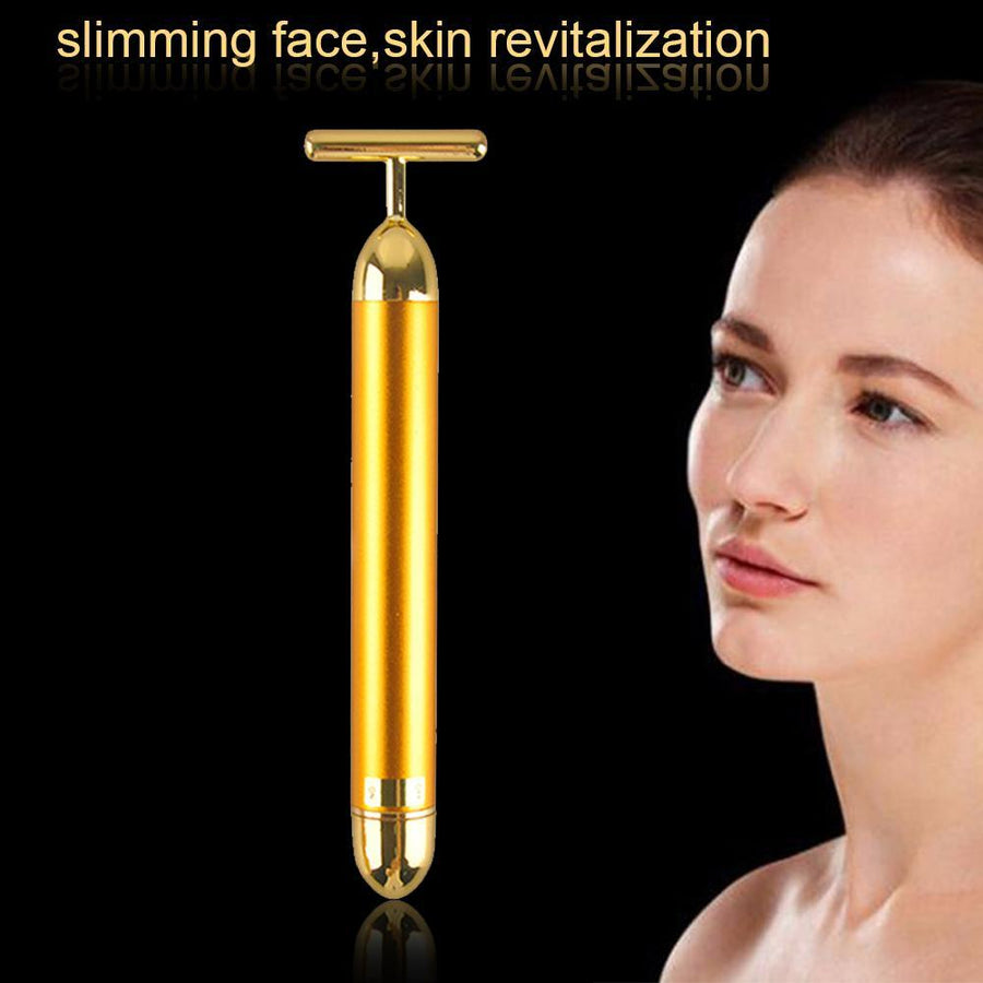 24K Gold Pulse Facial Massager