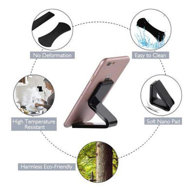Nano Rubber Pad Mobile Phone Holder Sticker Car Bracket Holder Wall Desk Sticker Multi-Function Cell Phone Holder
