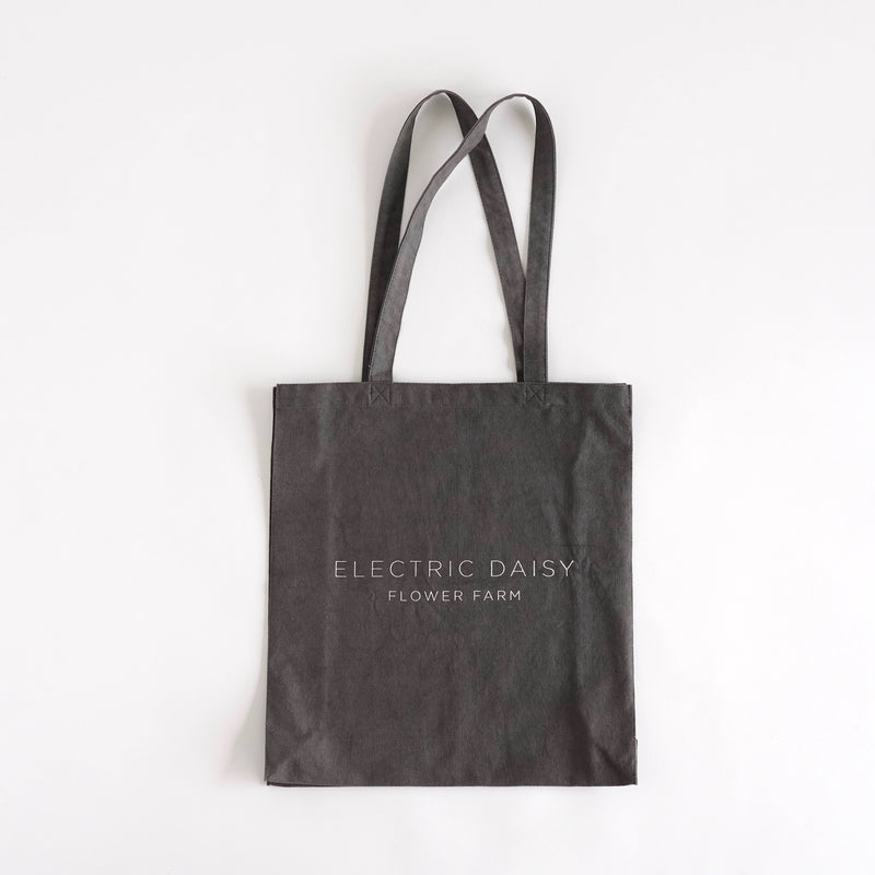 Electric Daisy Flower Farm - Linen Tote Bag