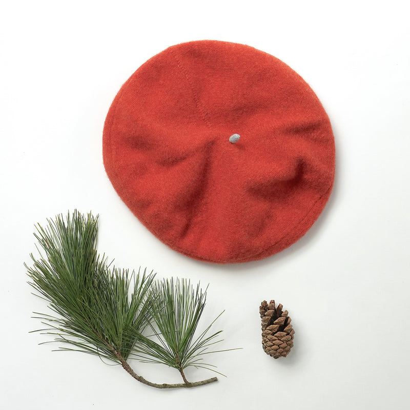 Burnt Orange Lambswool Beret
