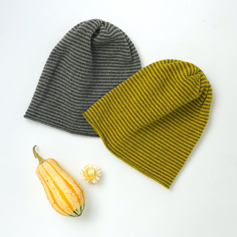 Striped Woollen Beanie Hat