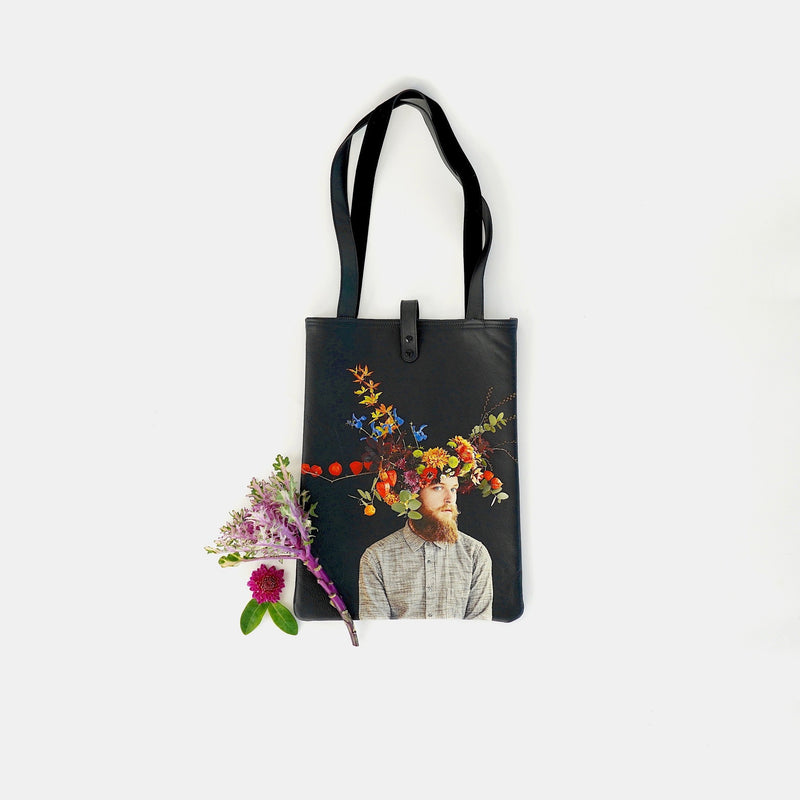 Limited Edition Printed Leather Tote Bag - Mr October