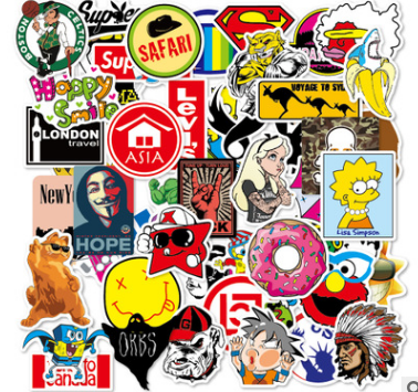 100 PCS Rock Sticker