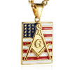 18k Gold Plated Freemason Dog Tag