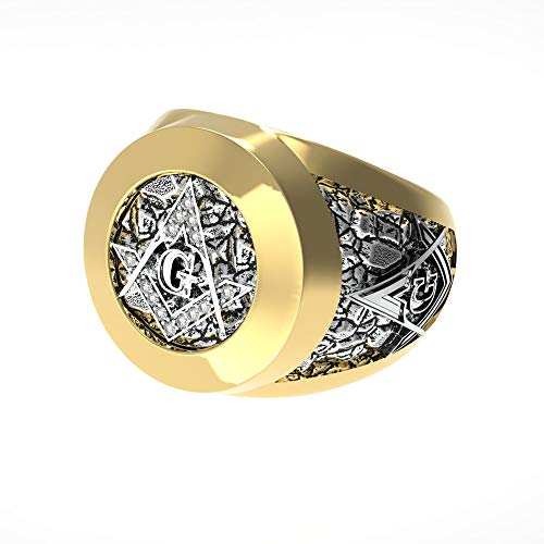 Limited Edition Gold Crystal Masonic Ring - SolomonsOrder