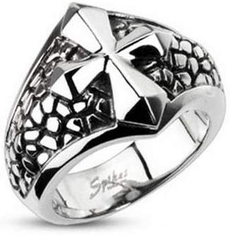 Silver Cross Ring - SolomonsOrder