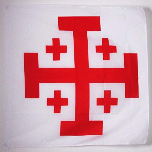 Order of The Holy Sepulchre of Jerusalem Cross Flag 3' x 3' for a Pole - SolomonsOrder