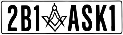 2B1ASK1 Square & Compass Masonic Vinyl Decal - 6 Inch