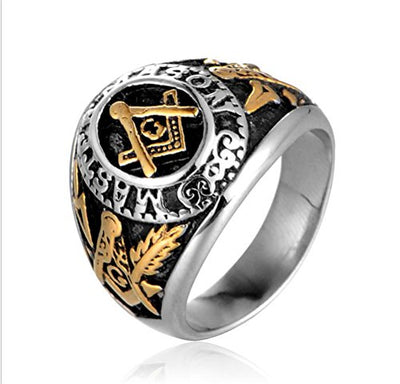 Double Plated Masonic Signet Ring - SolomonsOrder