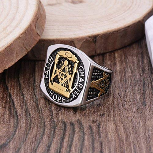 """FAITH-HOPE-CHARITY"" MASONIC RING - SolomonsOrder"