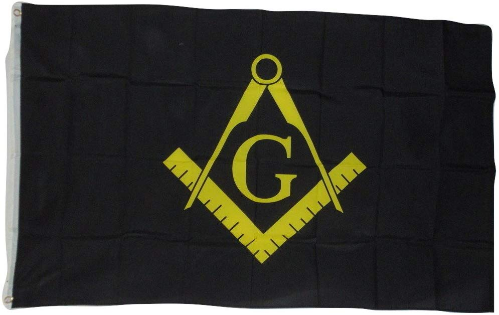 Freemason Mason Masonic Black Flag, 3 X 5, 3x5 Feet New! Polyester - SolomonsOrder
