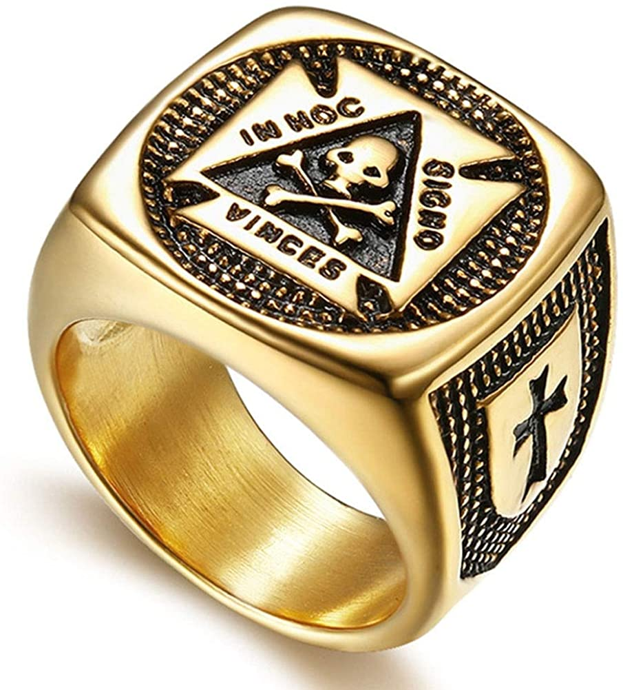 """In this sign thou shalt conquer"" Masonic Ring - SolomonsOrder"