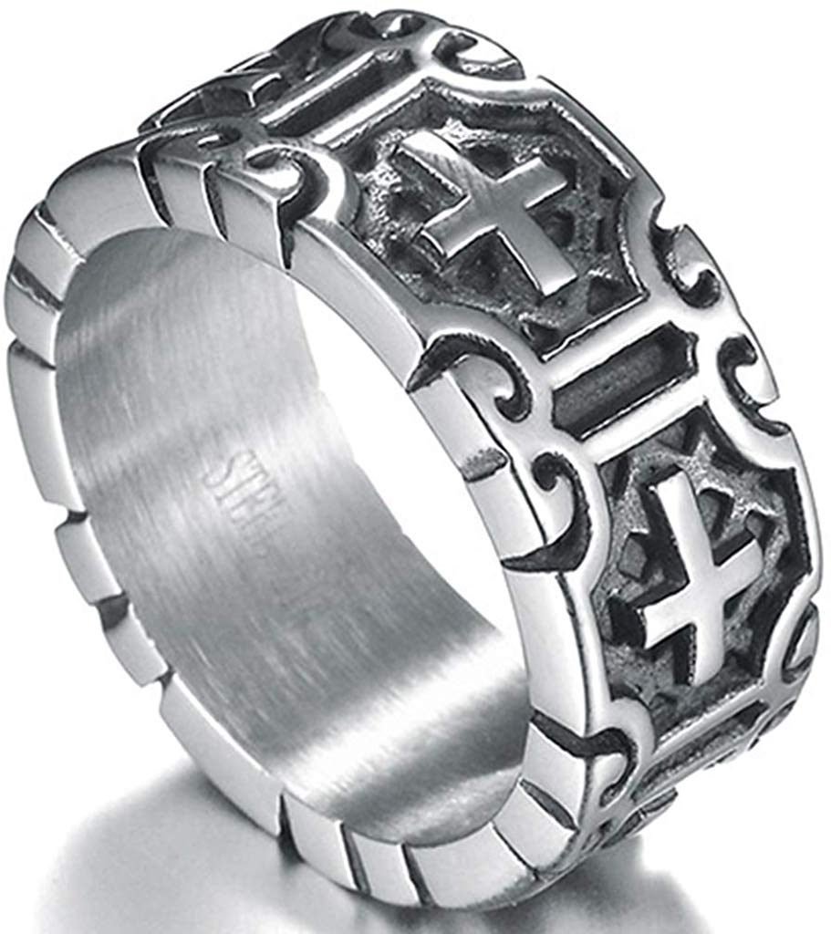 Cross Retro Vintage Ring - SolomonsOrder