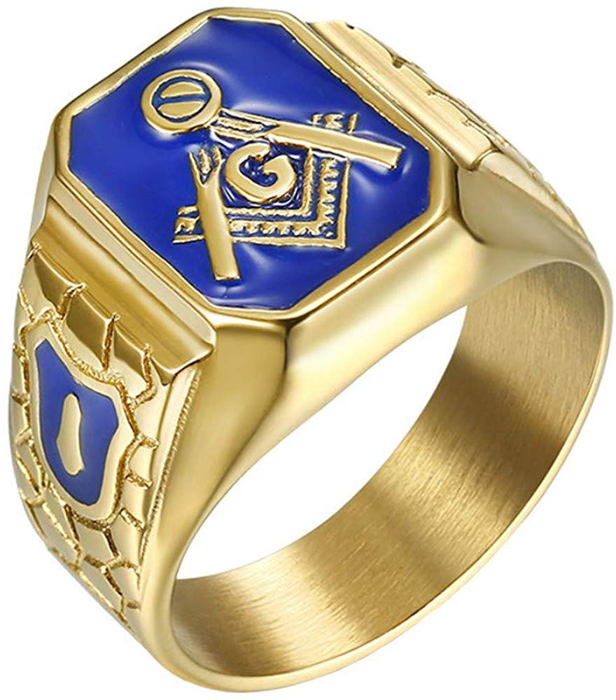 Blue G Lodge Master Mason Ring - SolomonsOrder