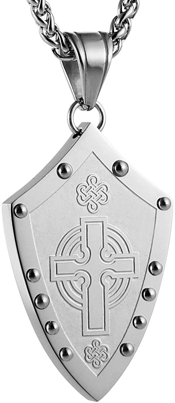 Warriors Medieval Shield Necklace - SolomonsOrder