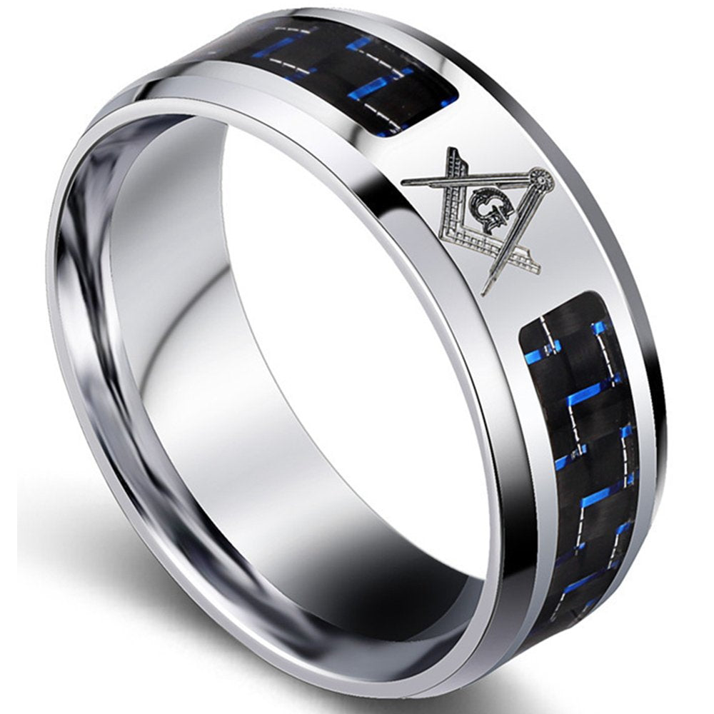 Blue Chapter Masonic Ring - SolomonsOrder
