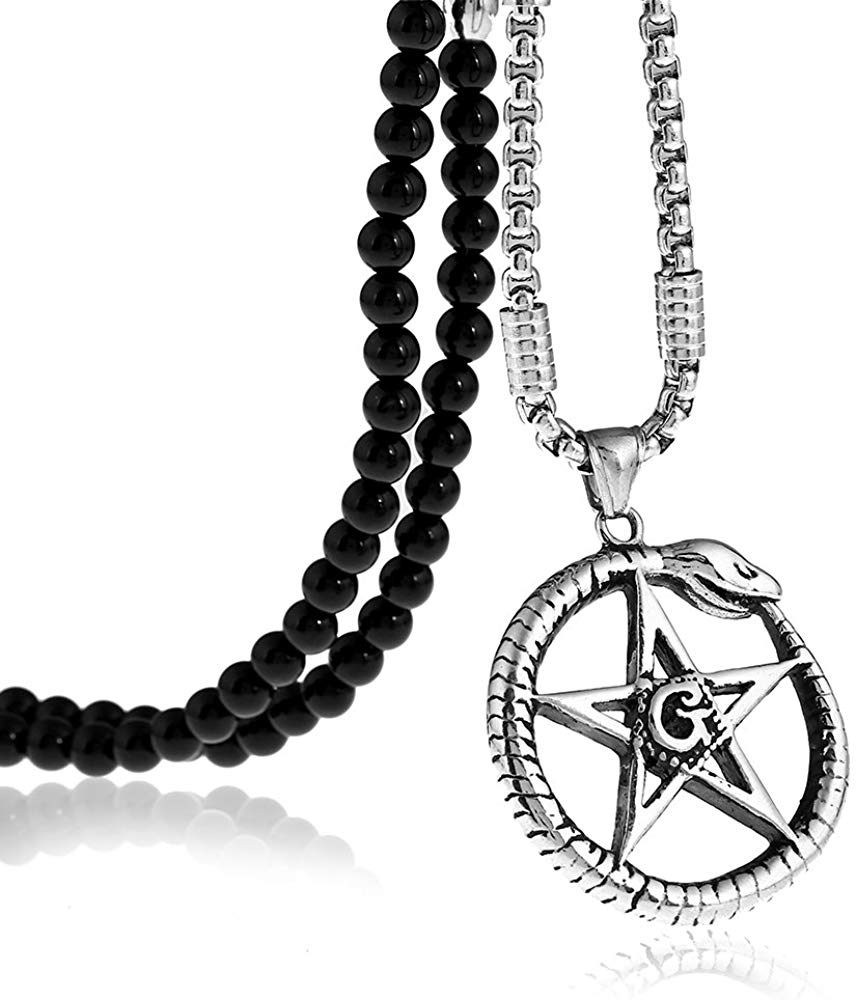 Heartbeat Star of David Snake Necklace - SolomonsOrder