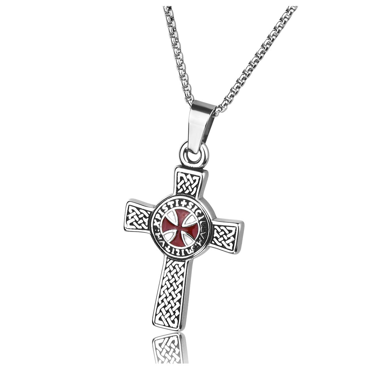 Knight's Templar Cross Necklace - SolomonsOrder