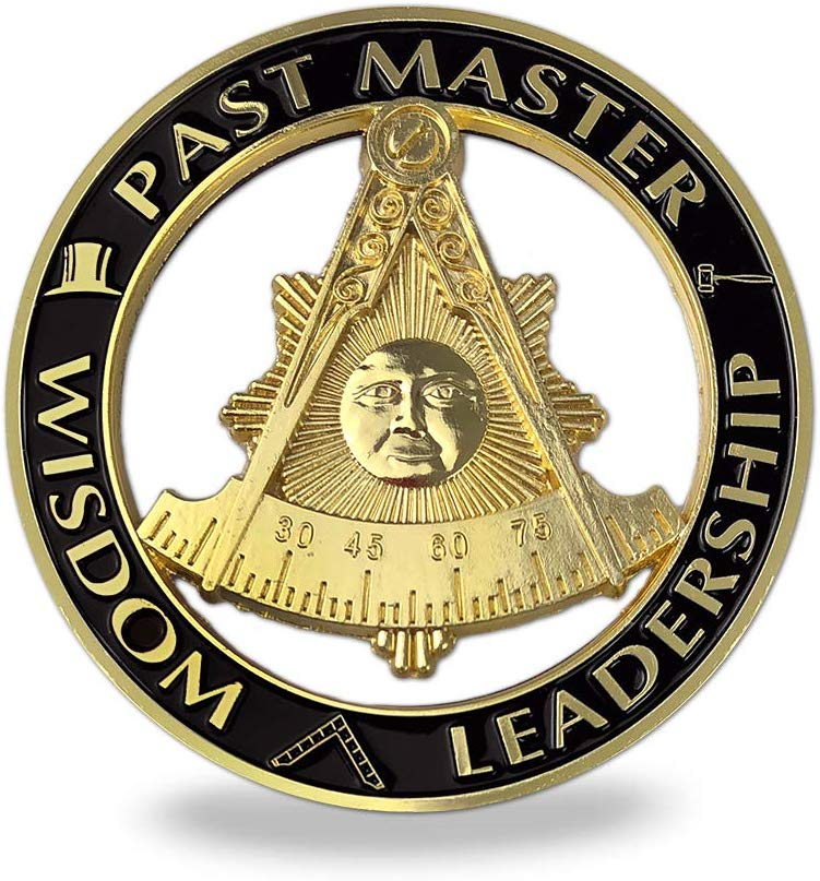 Masonic Past Master Auto Emblem Car Decal Freemason with Square Sticker - SolomonsOrder