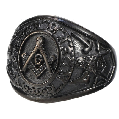 Special Edition Back Matted Masonic Ring - SolomonsOrder