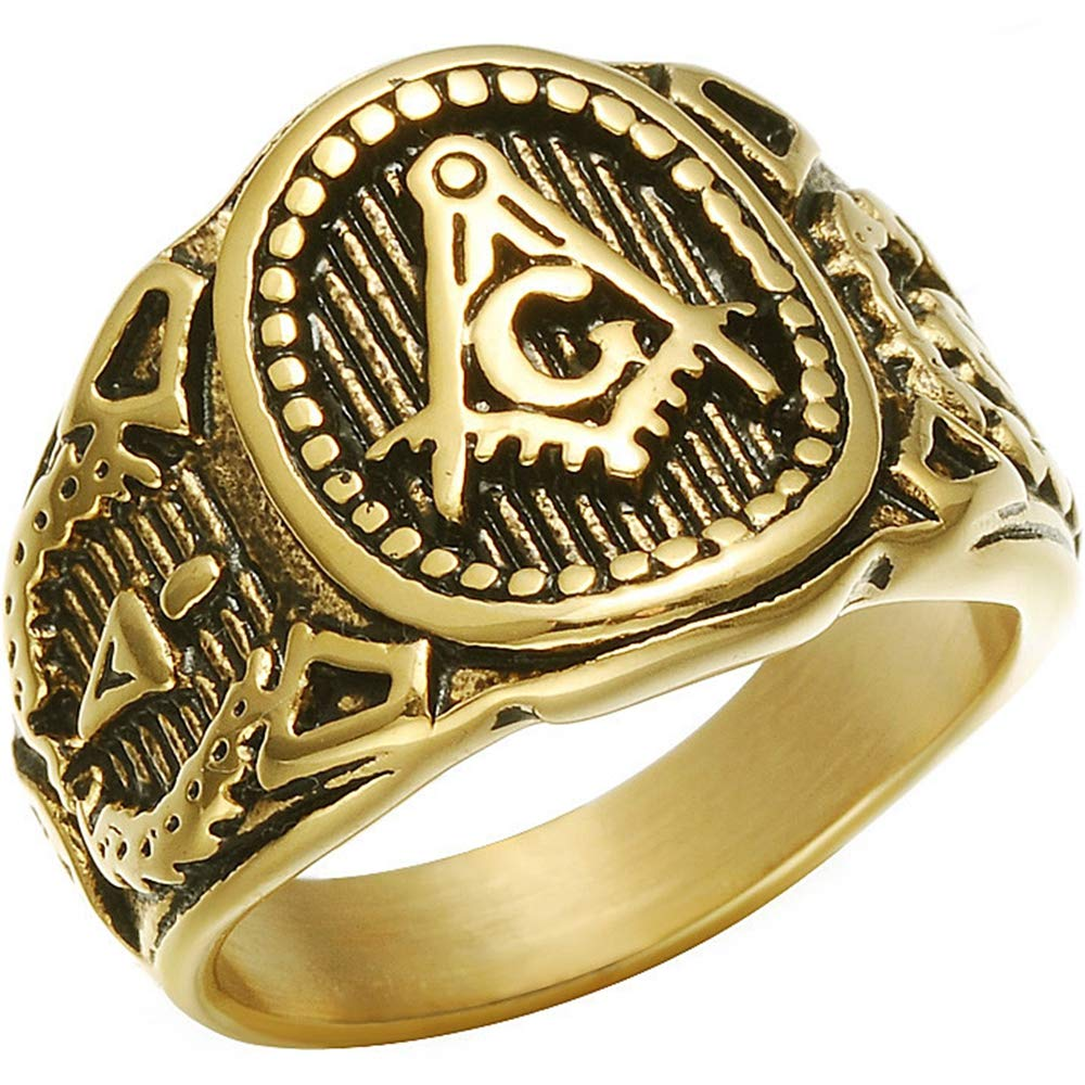 RETRO FREEMASON RING - SolomonsOrder